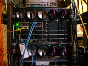 HP c-Class BladeSystem back side - Connection to the world!